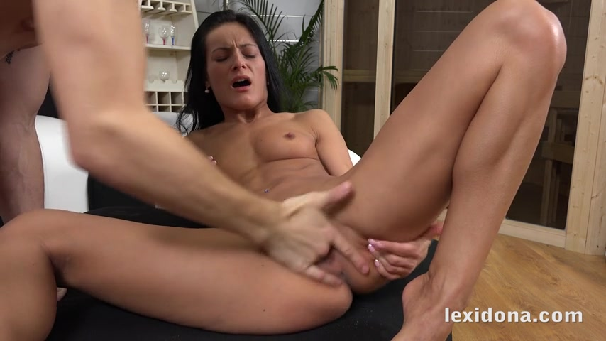 Cum oozes from Lexi Dona pussy after a session of hard fucking