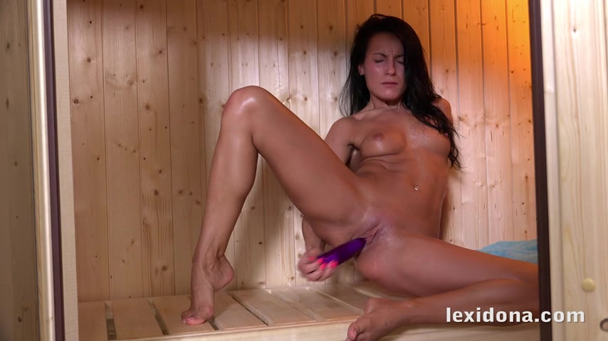 Pussy fucking inside the sauna for the hot and horny Lexi Dona