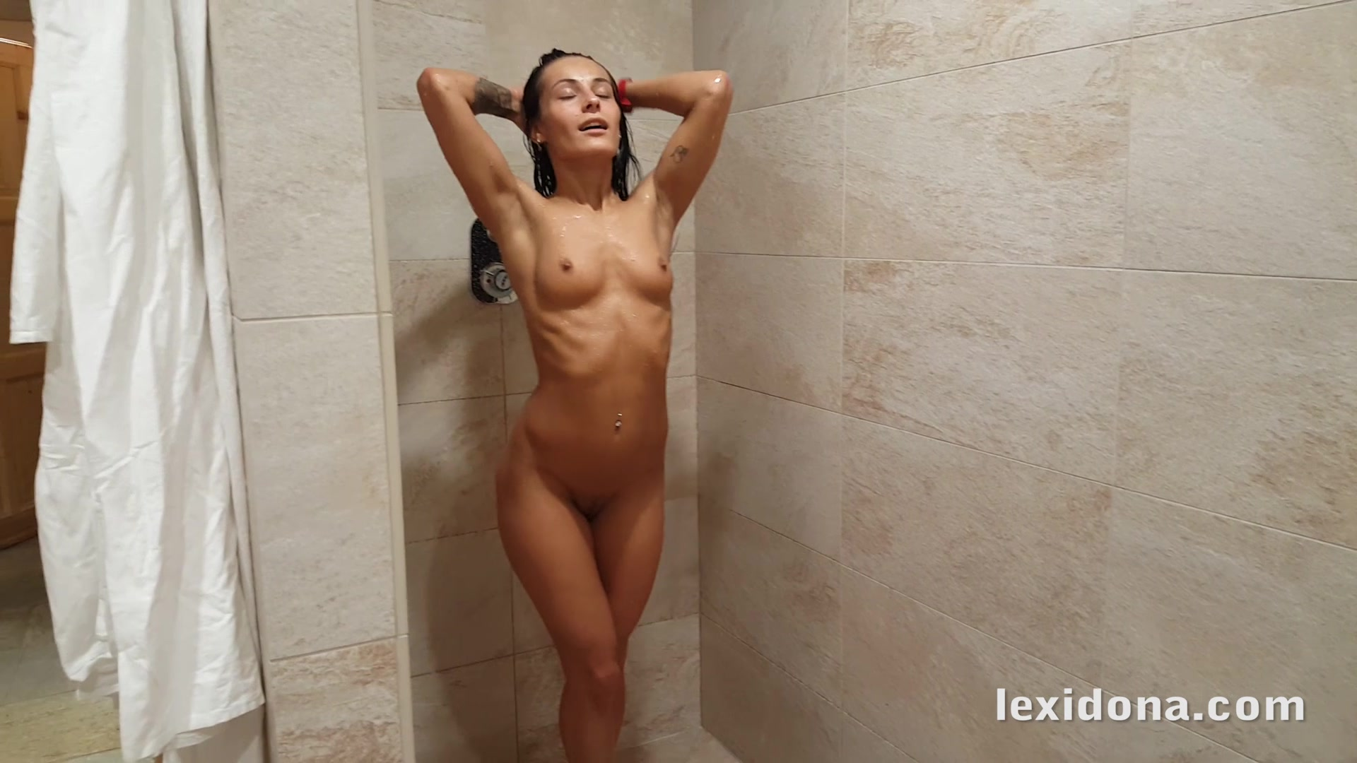 Sex in the shower for naughty babe Lexi Dona